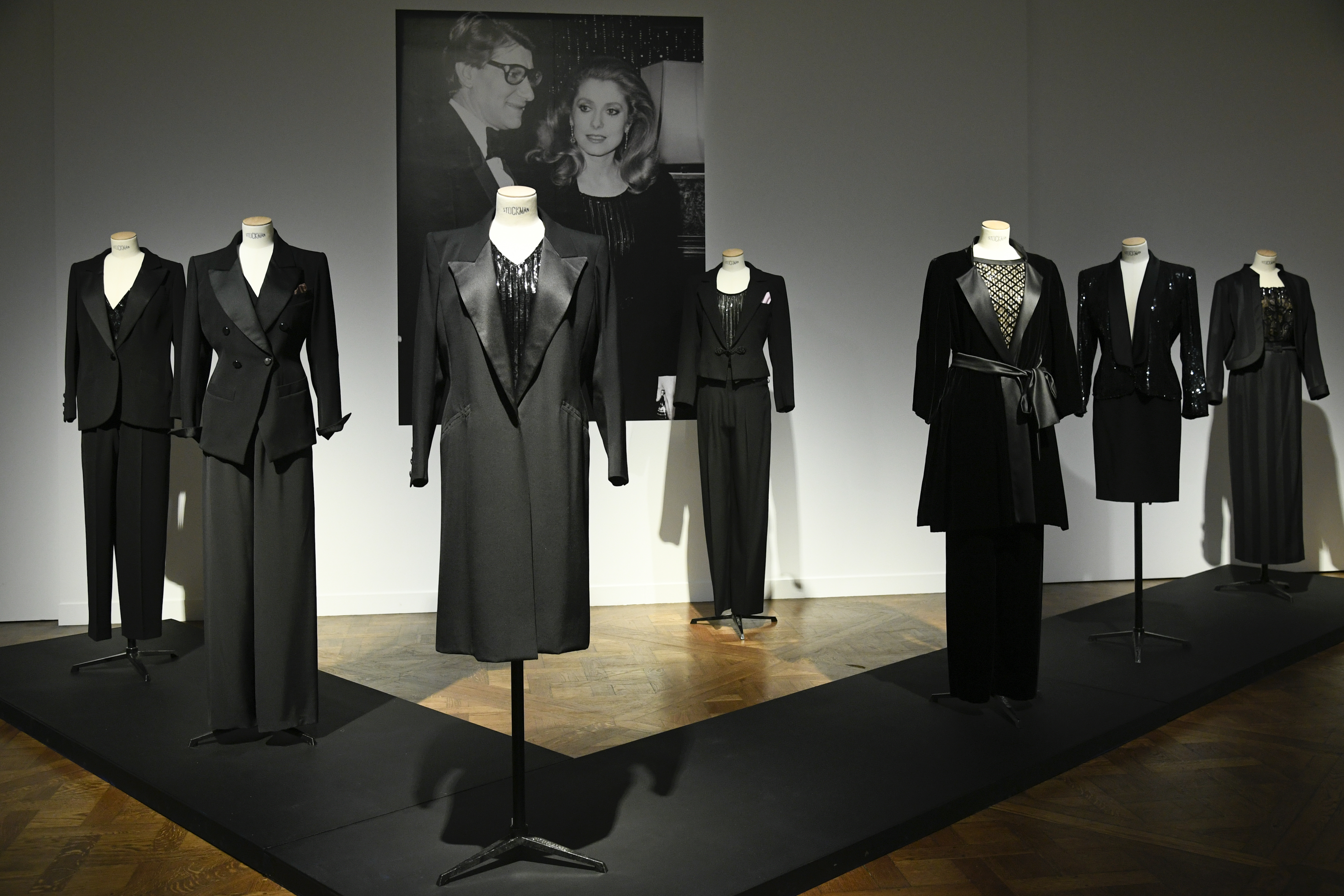 Catherine Deneuve's collection of Yves Saint Laurent suits
