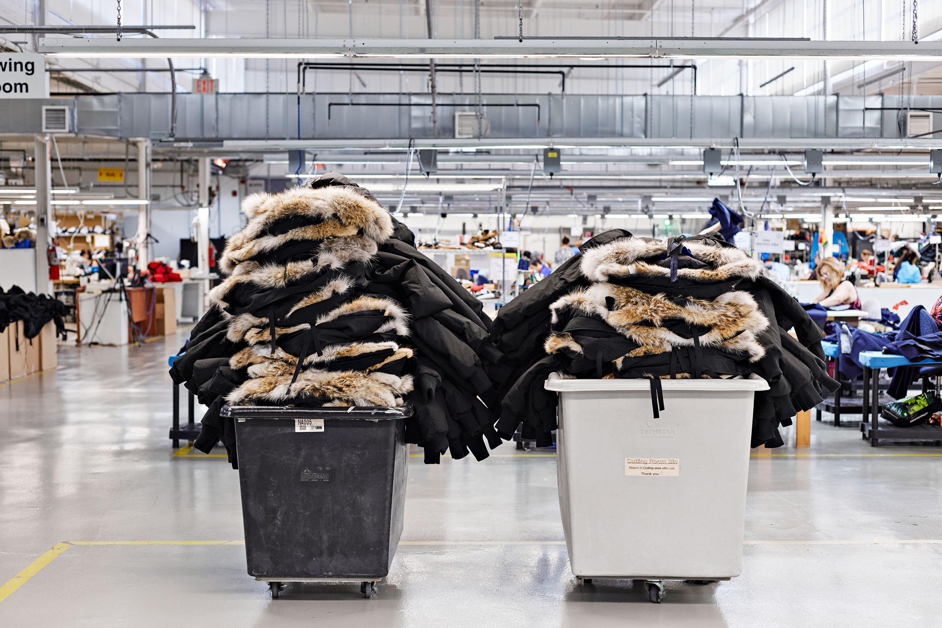 Inside Canada Goose's Toronto factory.