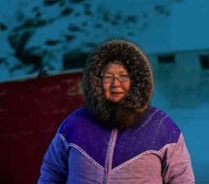 One of the Inuit seamstresses.