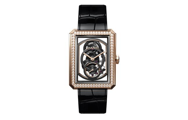 Chanel Boyfriend skeleton caibre 3 watch