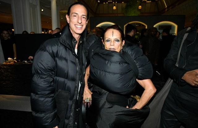 Rick Owens and Michèle Lamy at Le Bon Marché