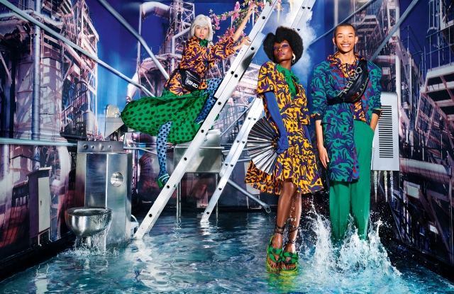David LaChappelle shot the colorful spring Kenzo campaign.