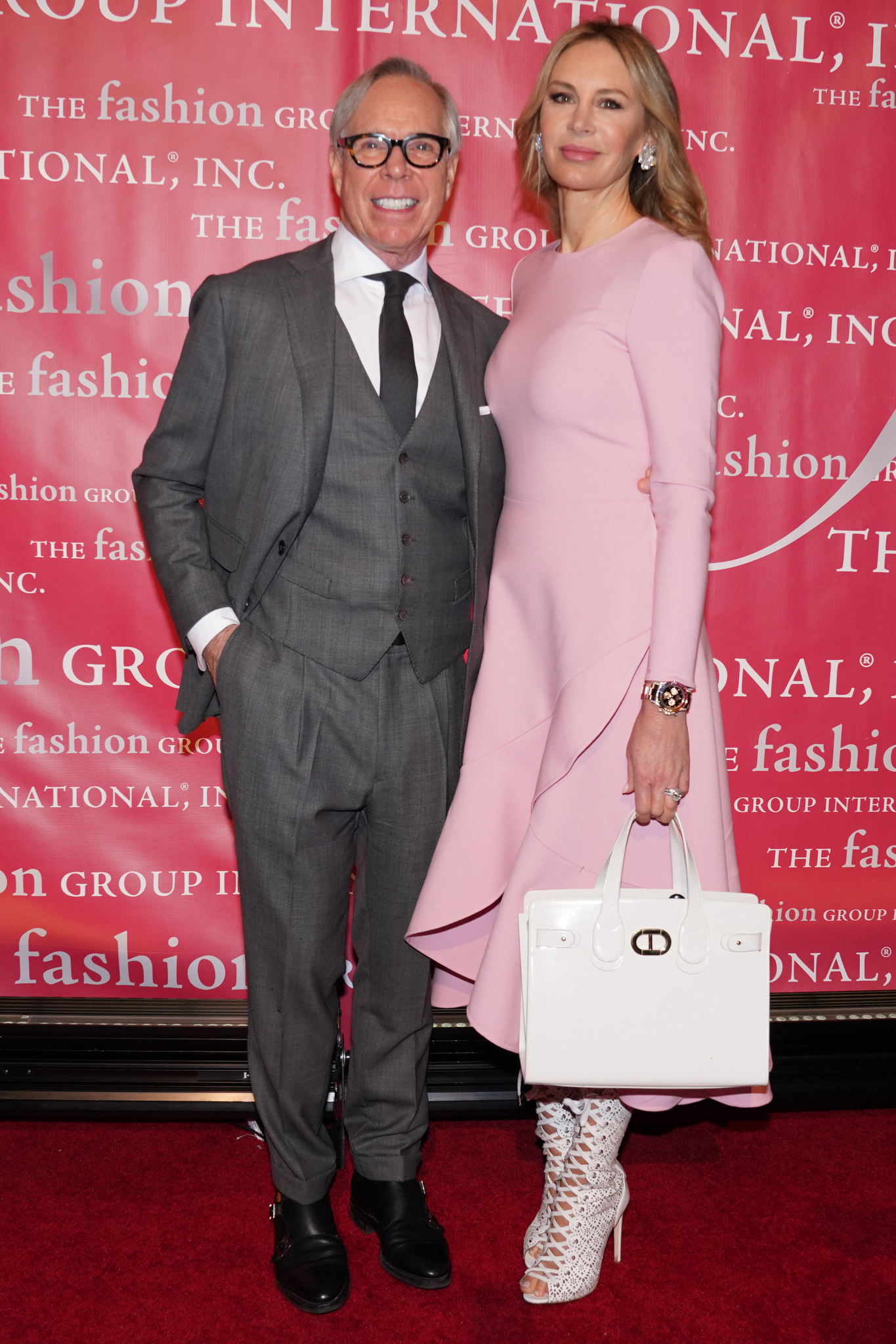 Tommy Hilfiger and Dee Ocleppo at this year's FGI  Rising Star Awards.