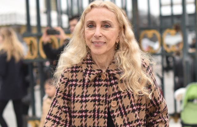 PARIS, FRANCE - MARCH 10: Franca Sozzani arrives at Valentino Fashion Show during Paris Fashion Week Fall Winter 2015/2016 on March 10, 2015 in Paris, France. (Photo by Jacopo Raule/GC Images)