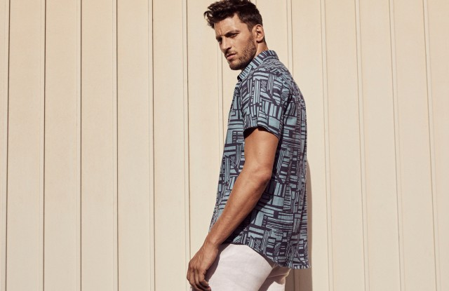 A look from Oliver Moores' new Frescobol Carioca collection.