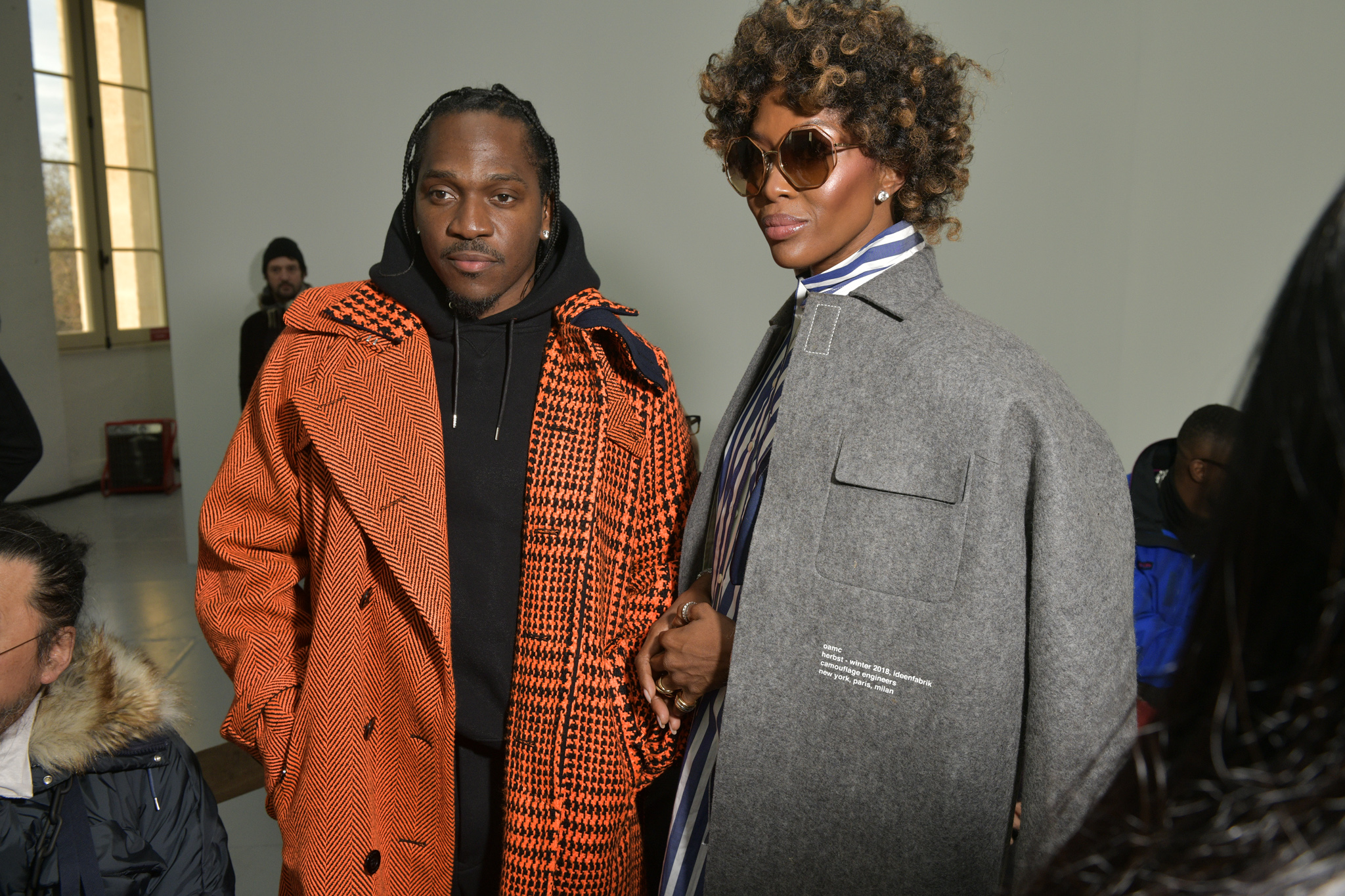 Pusha-T and Naomi Campbell