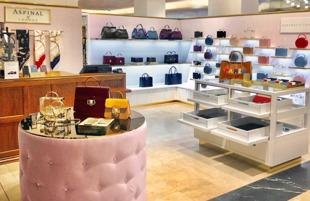 Aspinal of London's latest pop-up at Galeries Lafayette in Paris