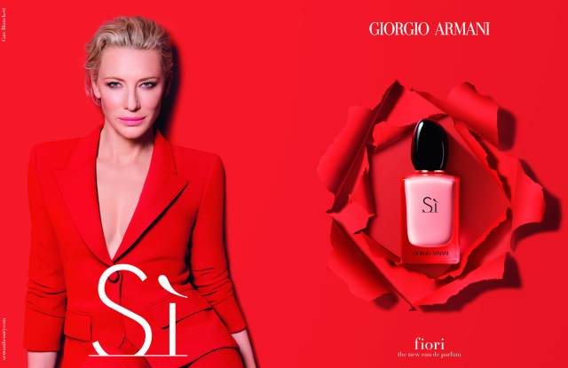 A new advertising image for Eau de Parfum Sì Fiori
