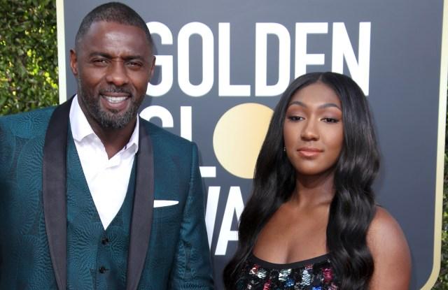 Idris Elba and Isan Elba, Golden Globes 2019