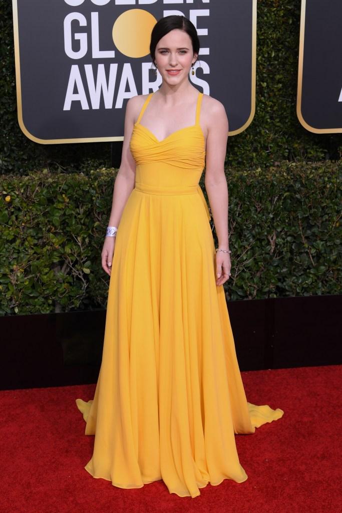 Rachel Brosnahan in Prada, Golden Globes 2019