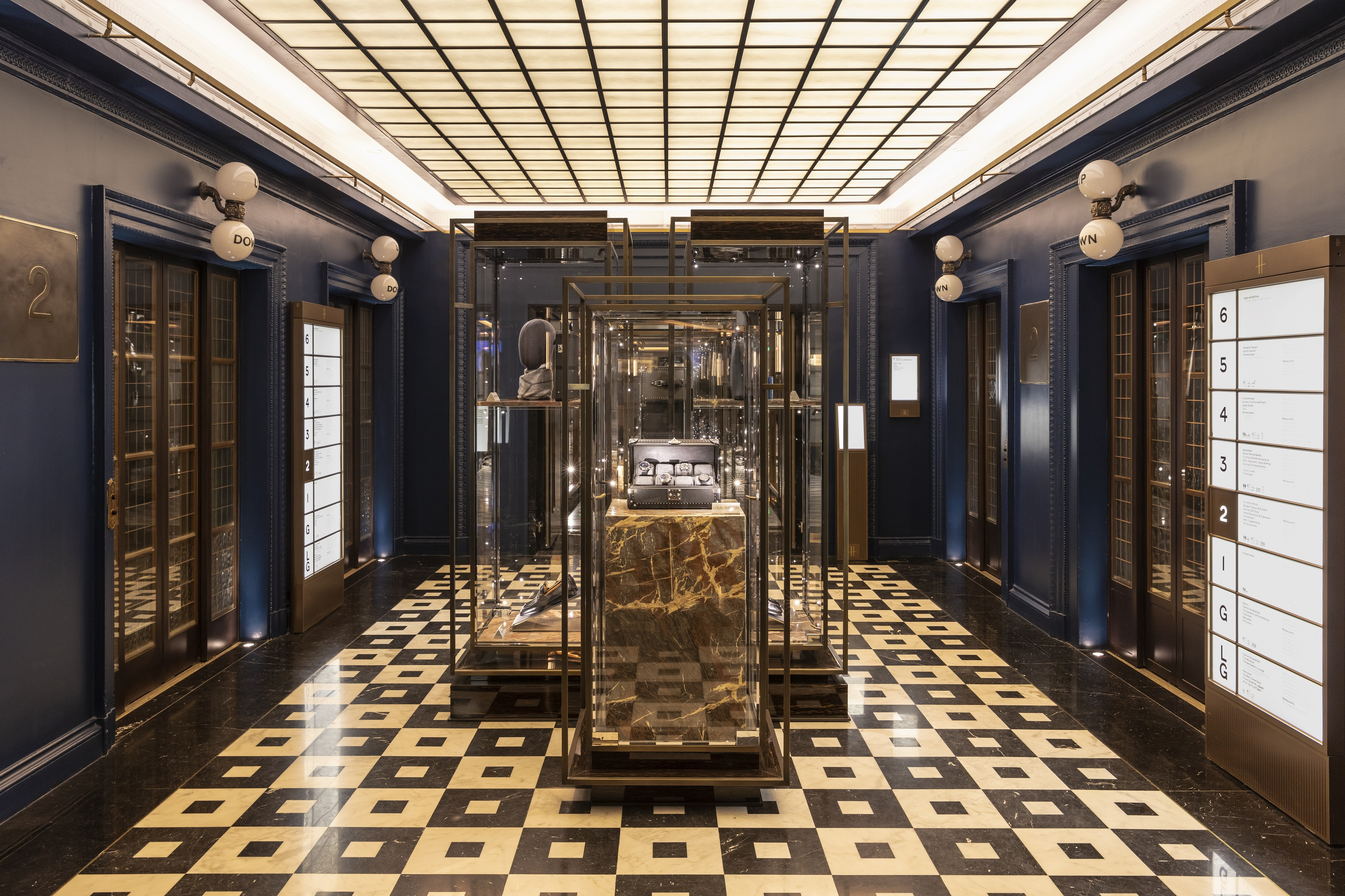 Harrods' Men's Superbrands lobby.