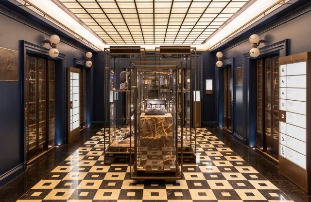 Harrods' Men's Superbrands lobby.