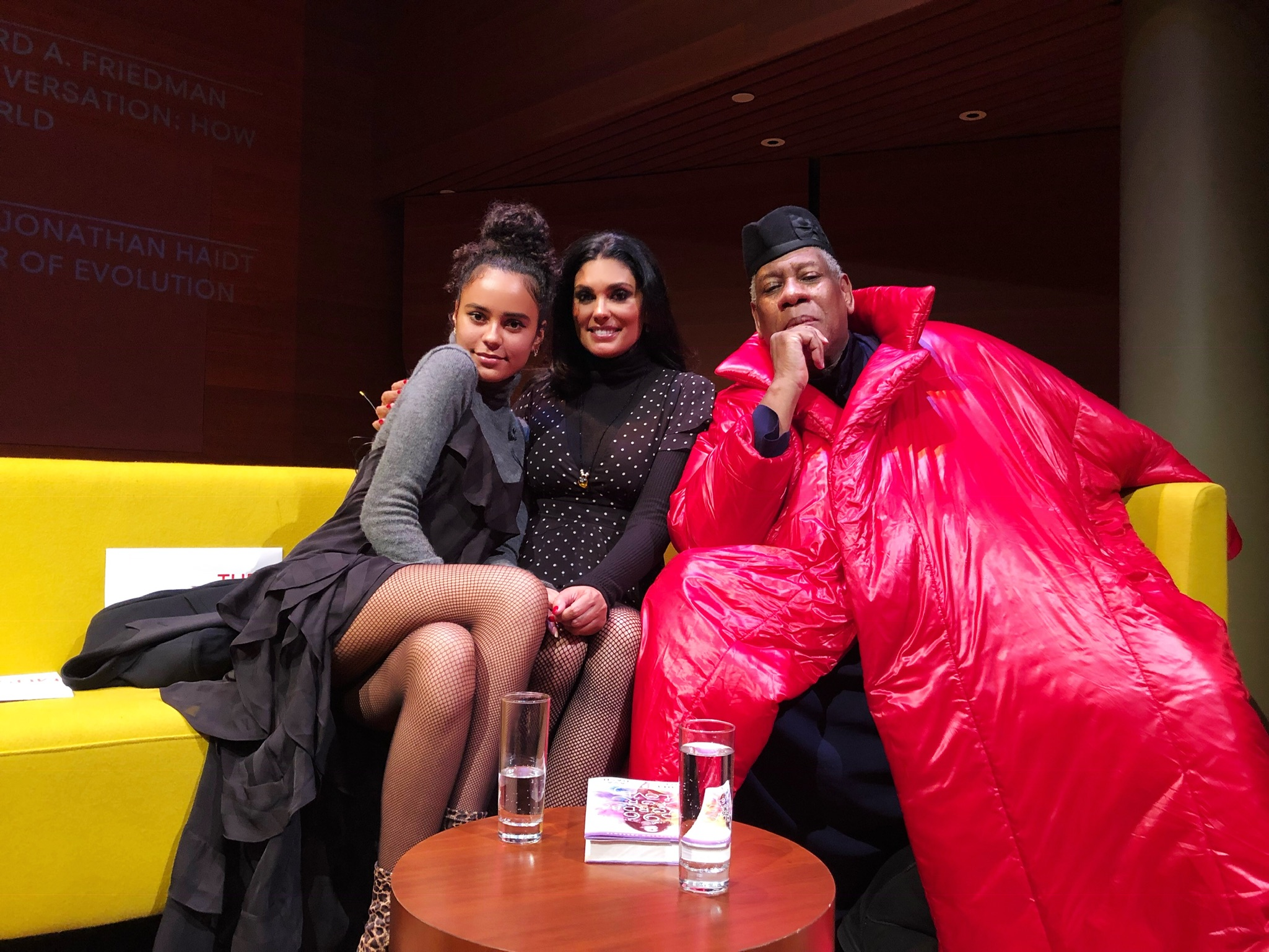 Ava Dash, Rachel Roy and Andre Leon Talley at a book signing at the Rubin Museum.