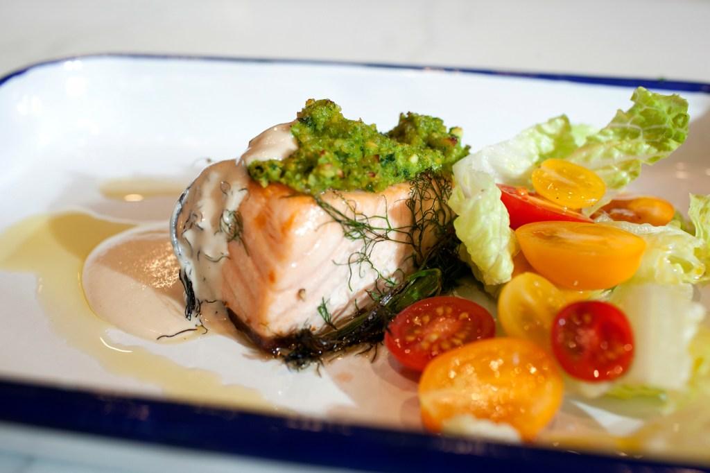 Falafel Crusted Salmon
