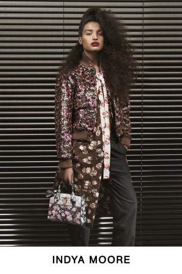 Indya Moore in the Louis Vuitton pre-fall look book.