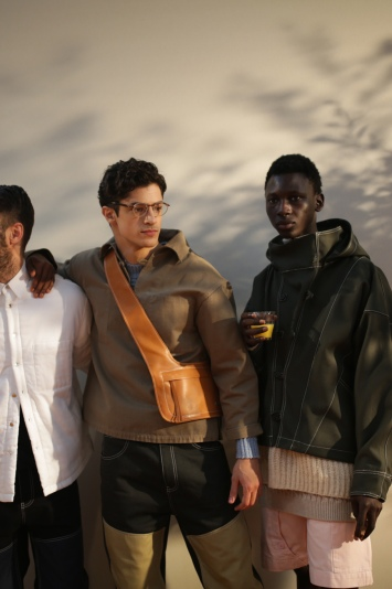 Backstage at Jacquemus men's fall 2019
