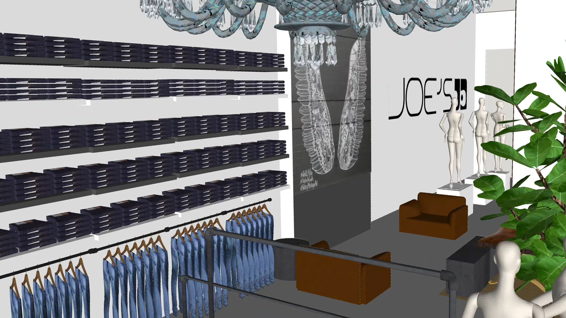 A rendering of the Joe's Jeans flagship at 83 Mercer Street in New York