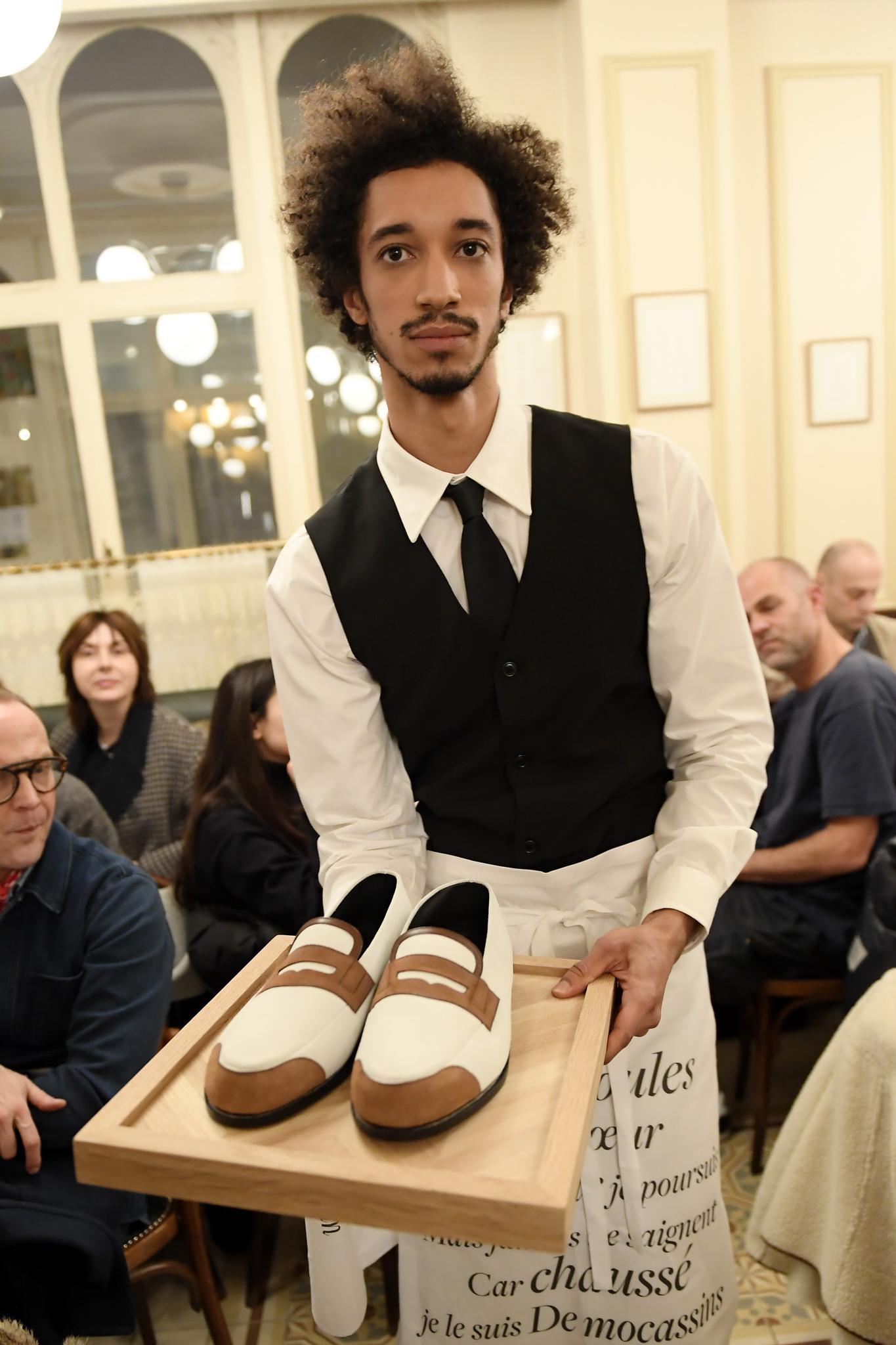 Olivier Saillard Stages Cafe Performance for J.M. Weston