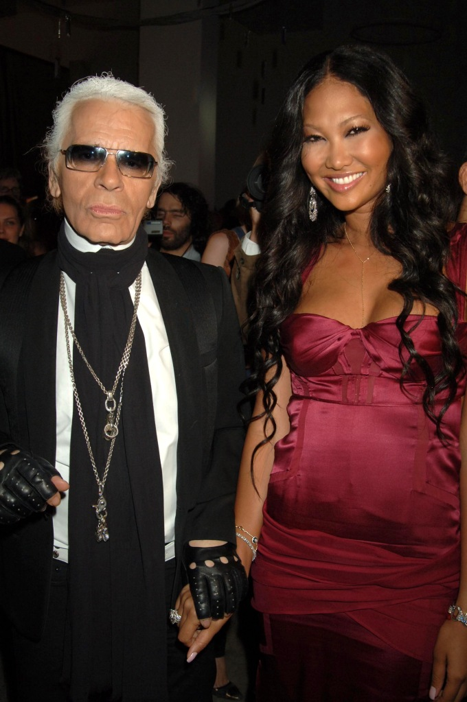 Karl Lagerfeld and Kimora SimmonsDOM PERIGNON CELEBRATES THE LAUNCH OF 'DOM PERIGNON VINTAGE 1998', NEW YORK, AMERICA - 02 JUN 2005