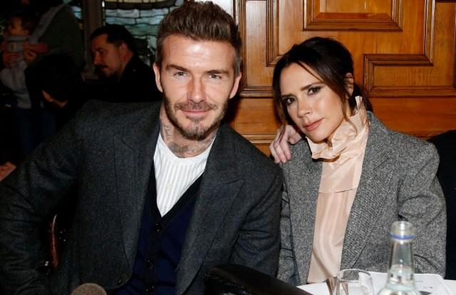 David Beckham and Victoria Beckham