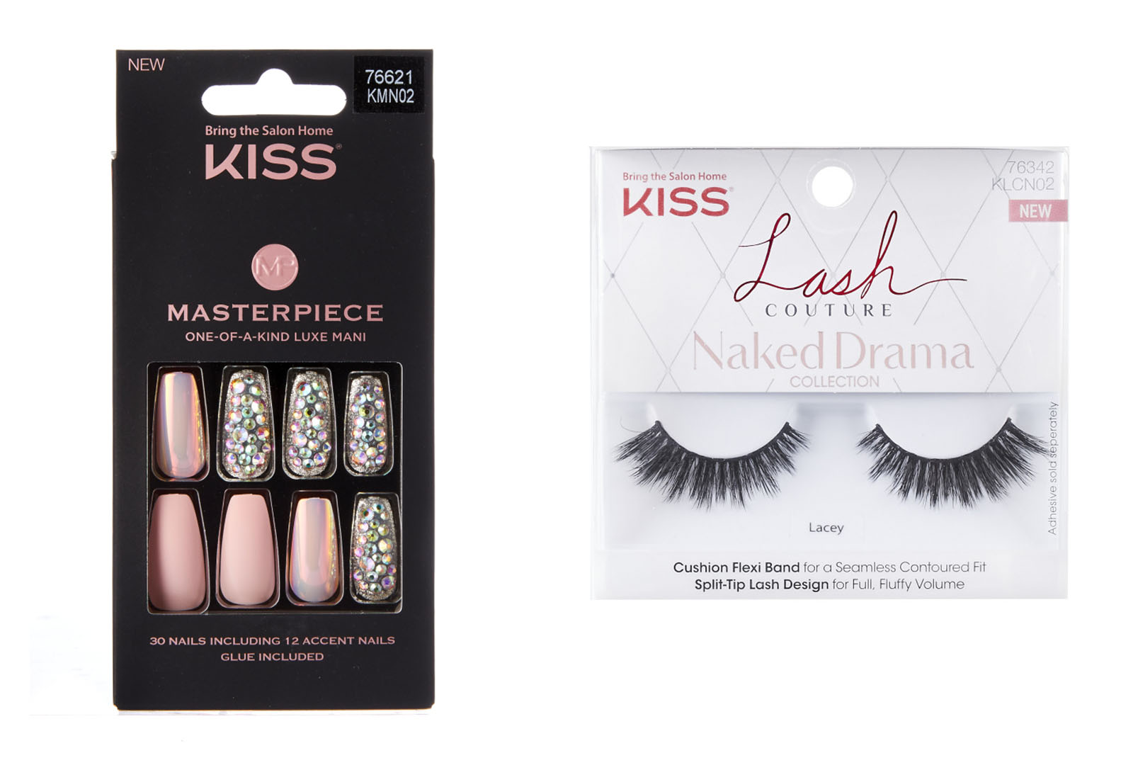 Kiss is launching its Masterpiece nails; New lashes from Kiss.