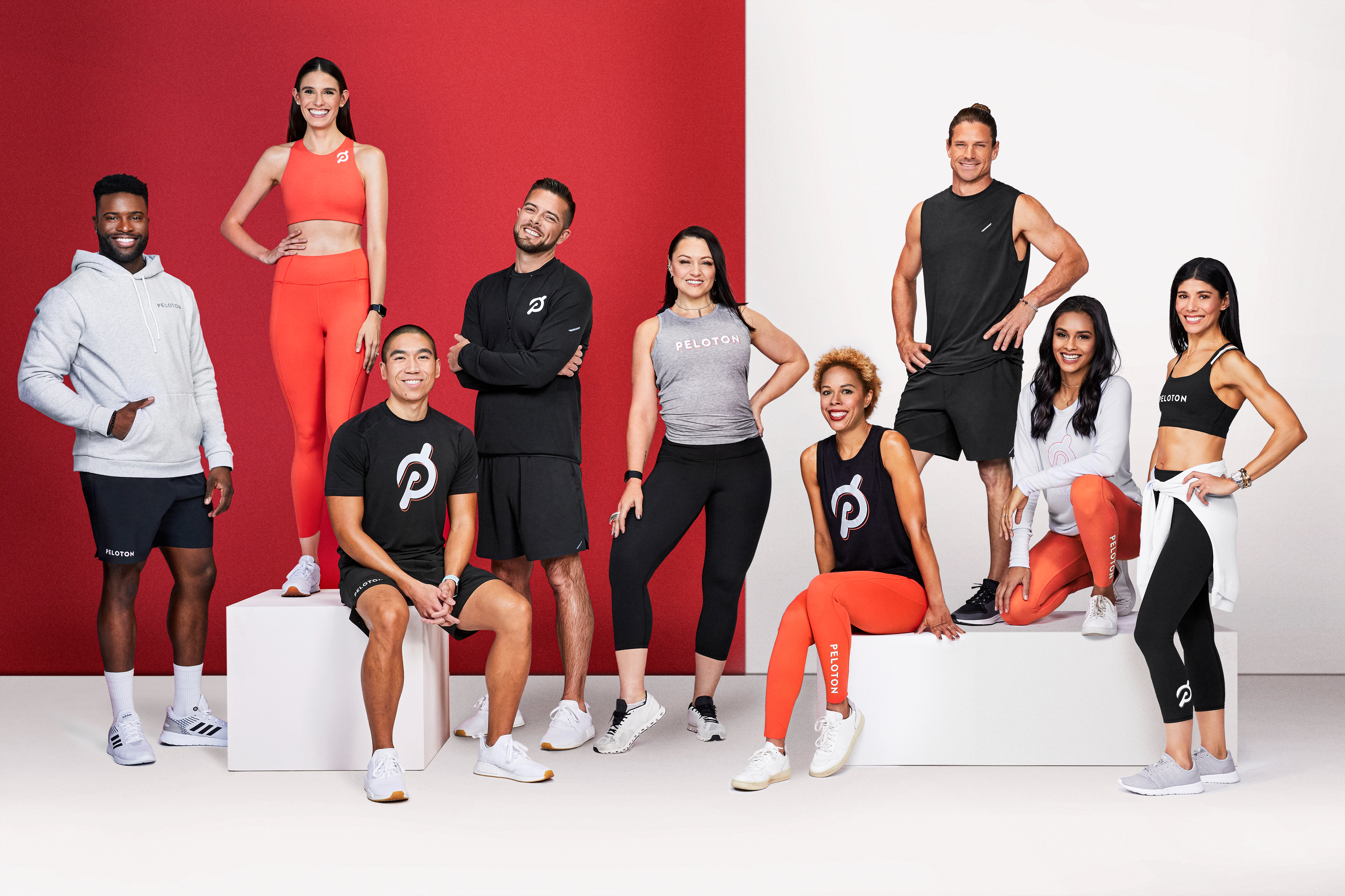 The marketing image for the Peloton x Athleta/Hill City collection.