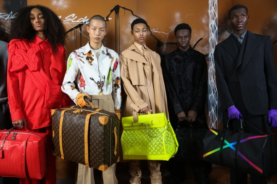 Backstage at Louis Vuitton men's Fall 2019