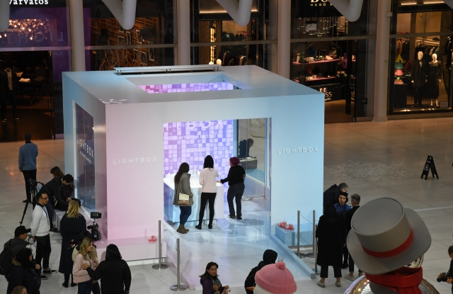 Lightbox Jewelry's pop-up structure, pictured here in New York, will travel to Westfield Century City Feb. 8.