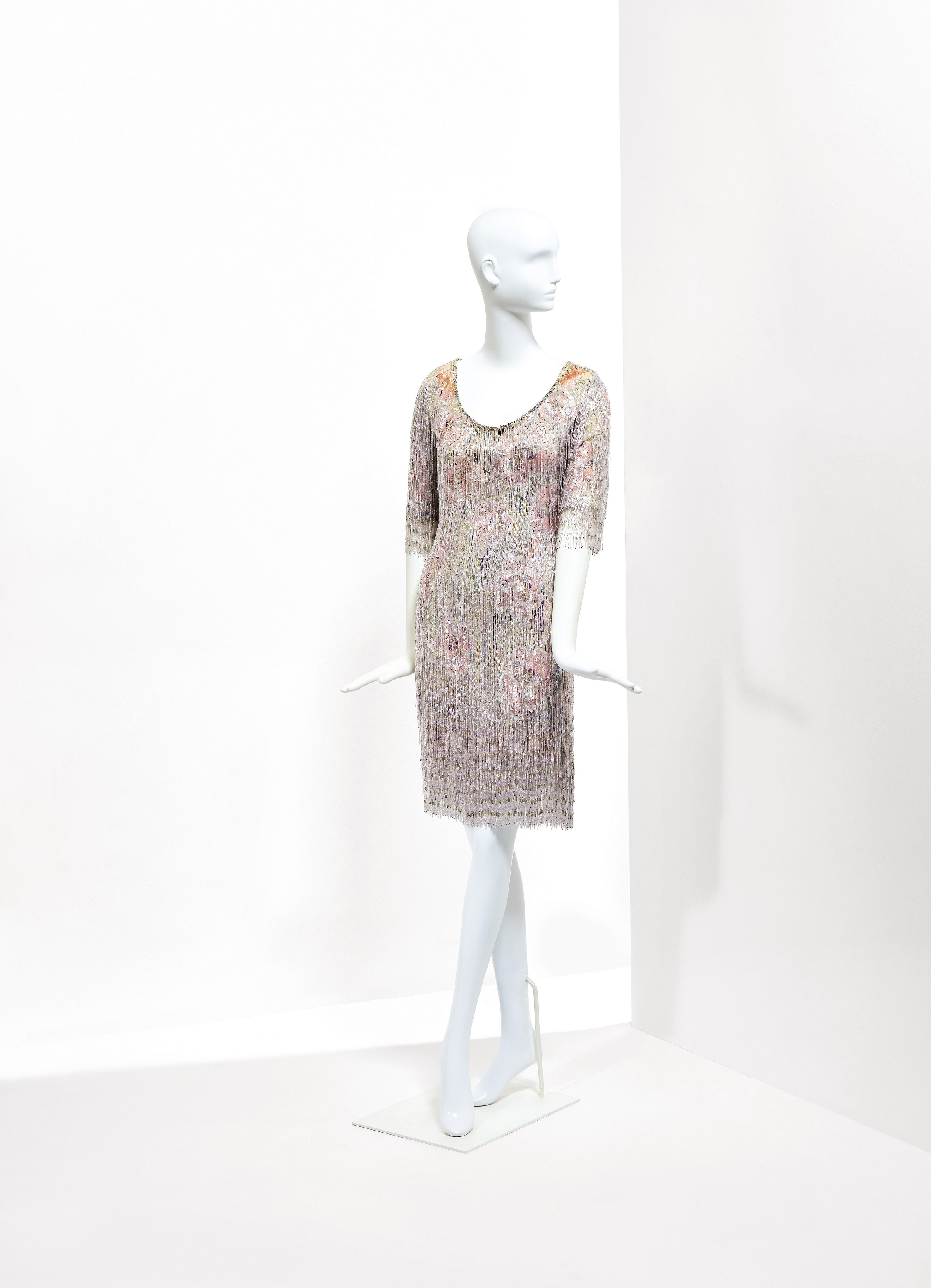 Catherine Deneuve's Yves Saint Laurent wardrobe: A beaded evening dress from spring 1969