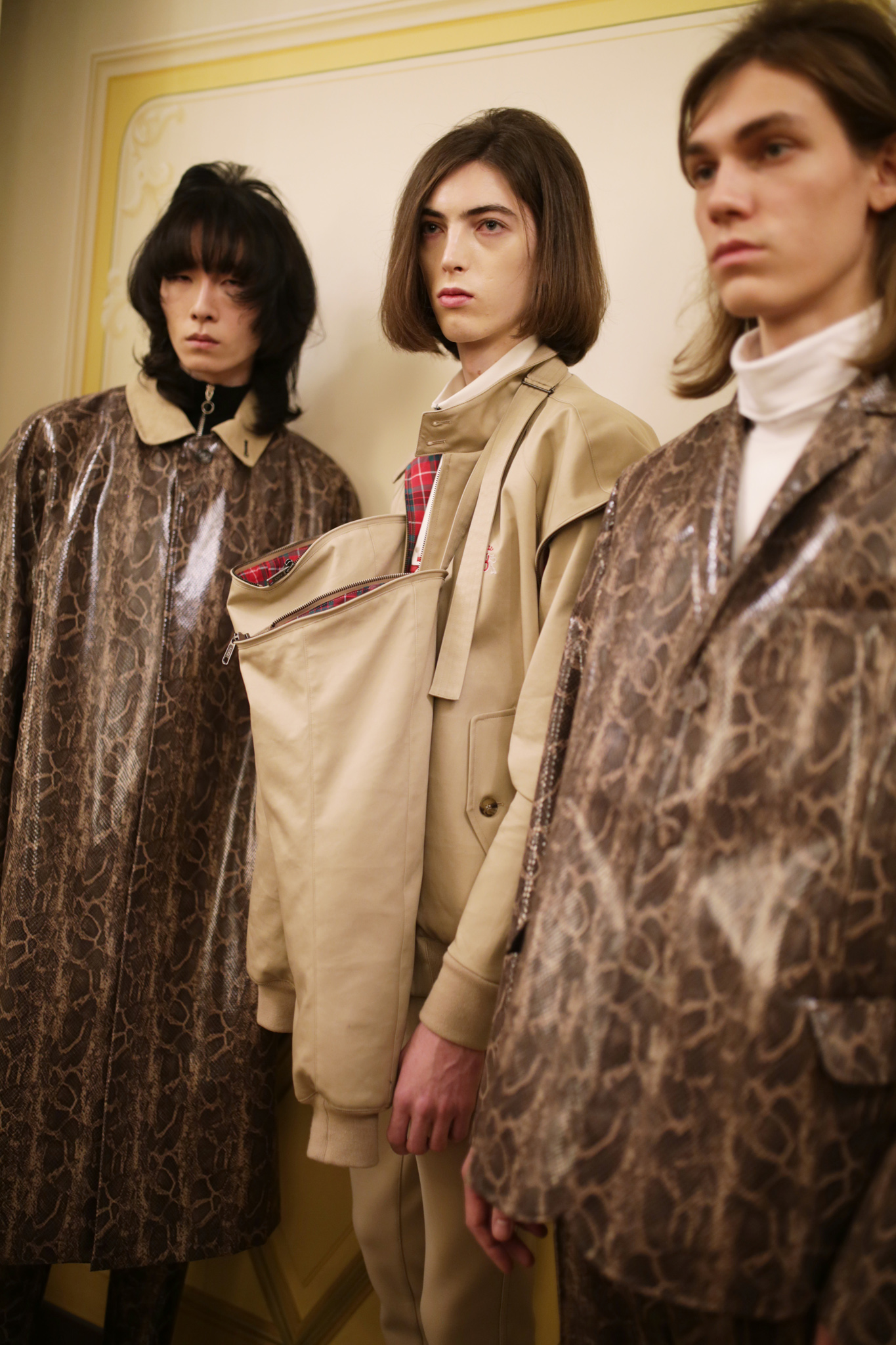Backstage at M1992 Men's Fall 2019