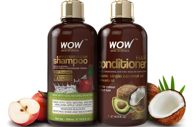 Wow's shampoo and conditioner combo averages in the top three spots on Amazon.