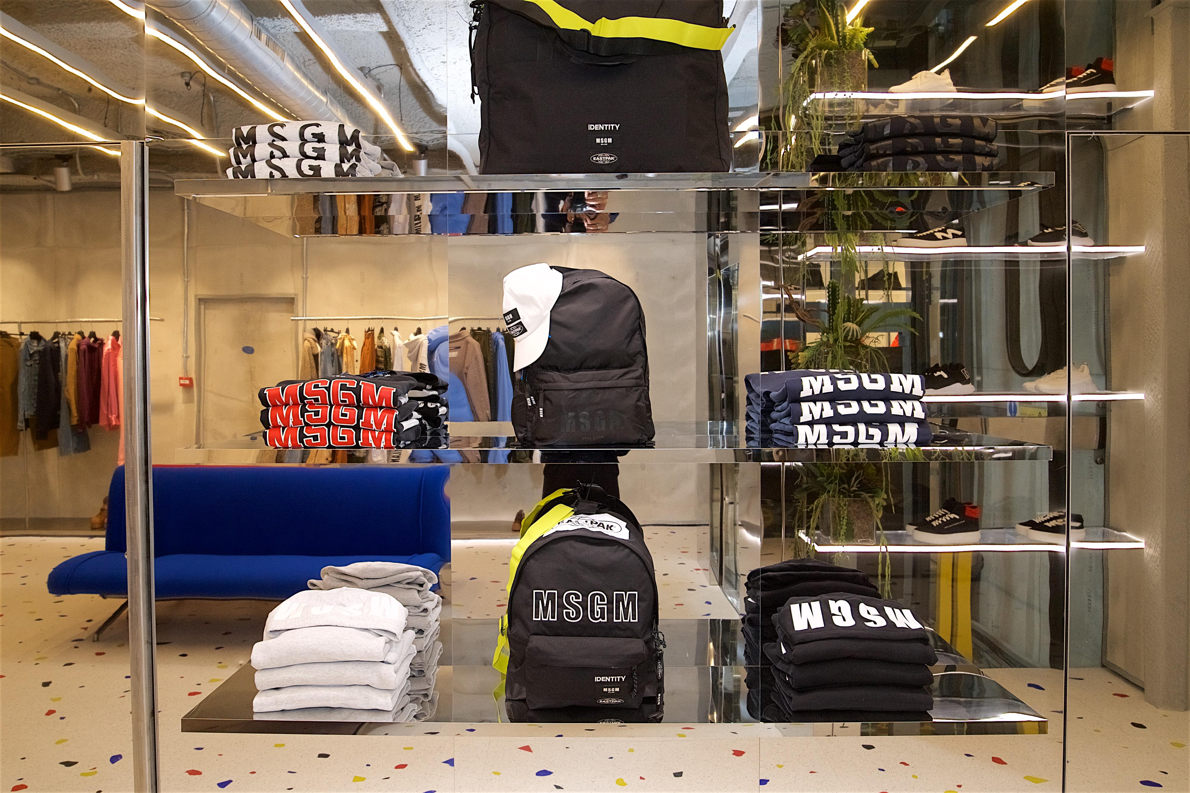 The MSGM London boutique.
