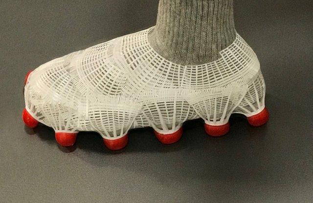 Nicole McLaughlin used badminton birdies to design this shoe.