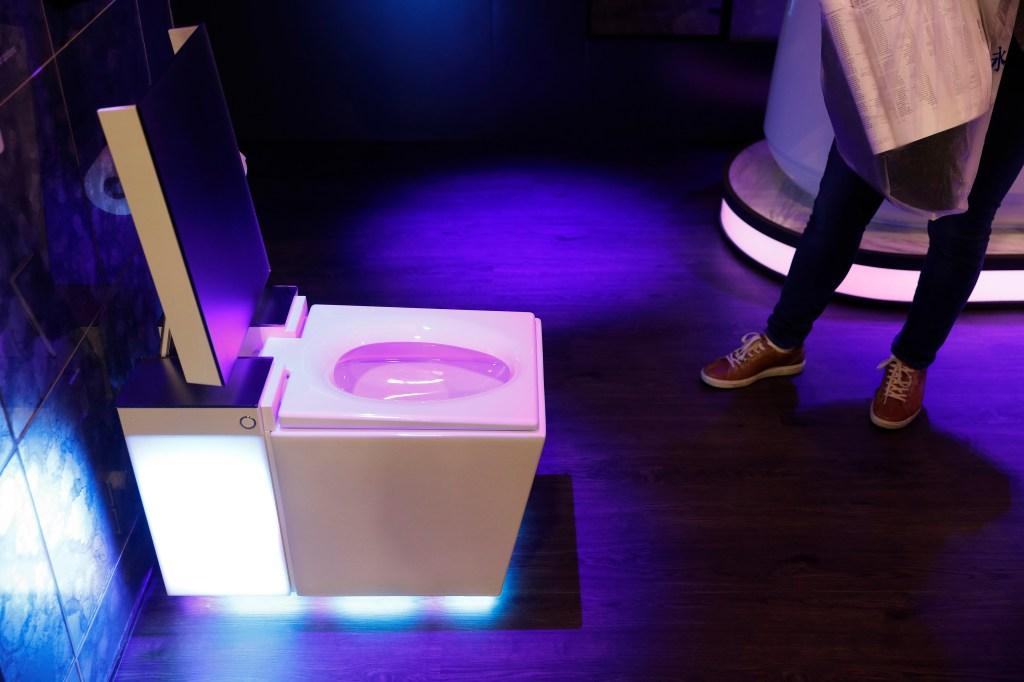 The Numi 2.0 intelligent toilet with Amazon Alexa is on display at the Kohler booth at CES International, in Las VegasGadget Show Kohler, Las Vegas, USA - 09 Jan 2019