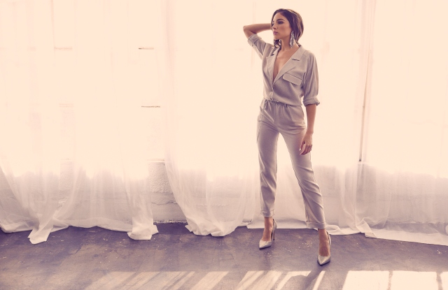 A campaign image from the Express x Olivia Culpo collection.