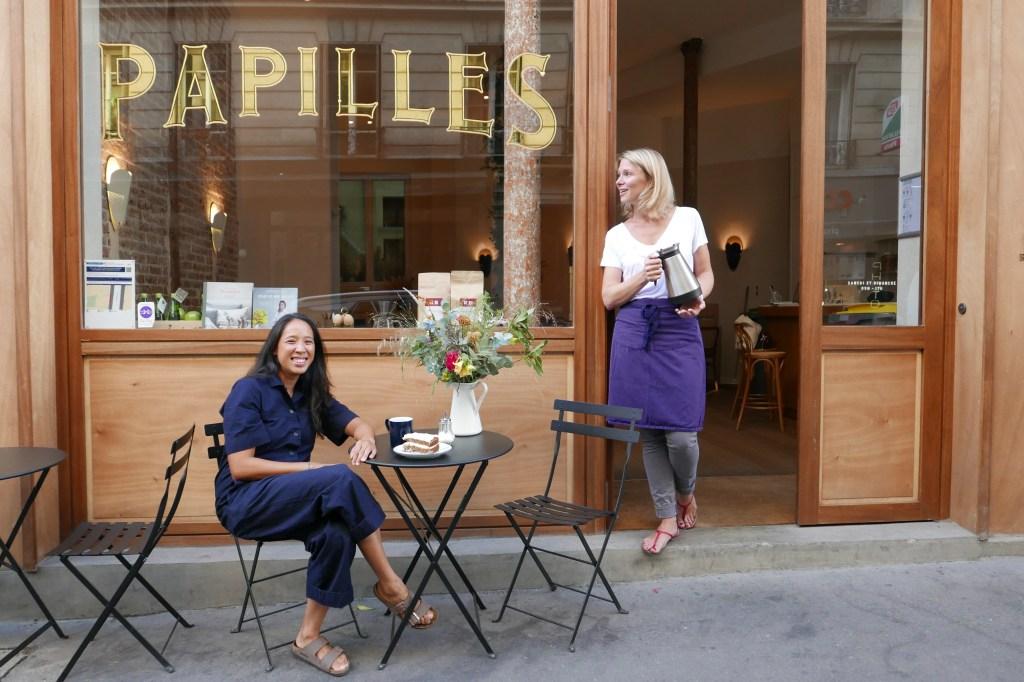 Céline Pham and Elise Servan-Schreiber at Papilles