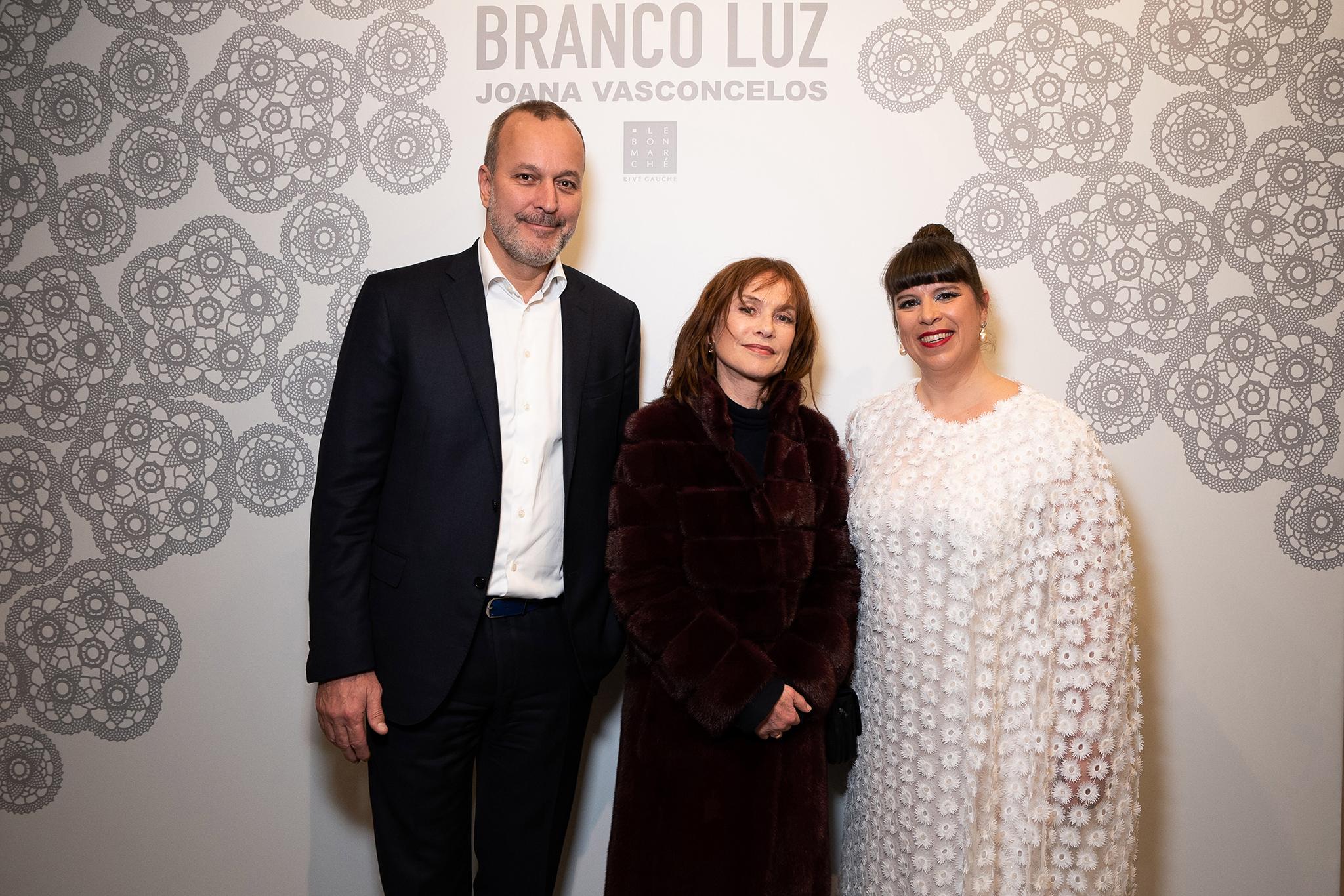 Patrice Wagner, Isabelle Huppert and  Joana Vasconcelos