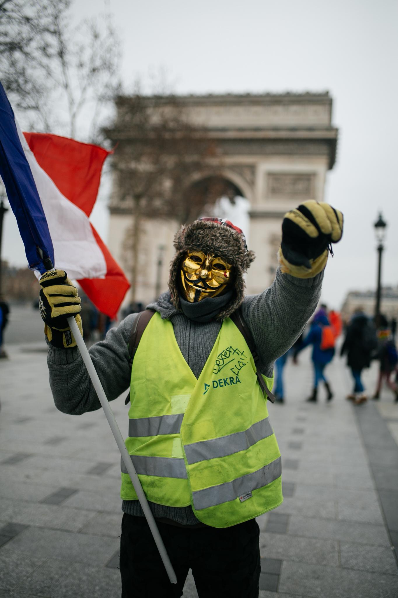 Gilets Jaunes protests Paris Fashion Week Men's Fall 2019