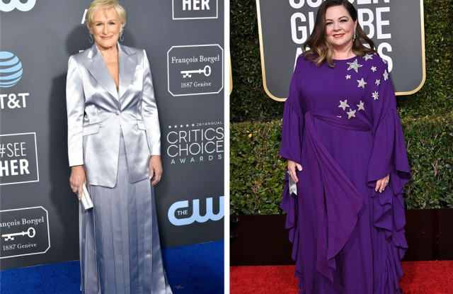 Melissa in Reem Acra from 11 Honore and Glenn Close in Gabriela Hearst at the Critics Choice Awards.