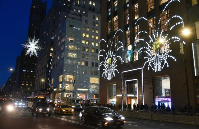 Tiffany & Co. Christmas Lights on 57th Street and 5th avenue in New York.Manhattan Christmas Decorations, New York, USA - 07 Dec 2018