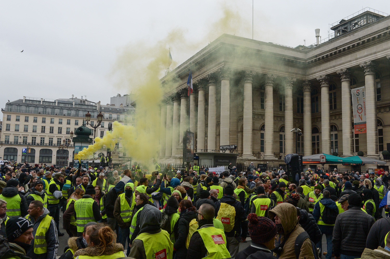 Demonstration of Yellow Vests in ParisGilets Jaunes Protest, France - 05 Jan 2019