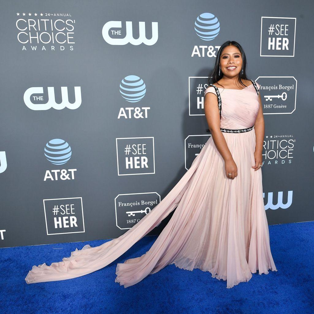 Yalitza Aparicio24th Annual Critics' Choice Awards, Arrivals, Barker Hanger, Los Angeles, USA - 13 Jan 2019Wearing Prada
