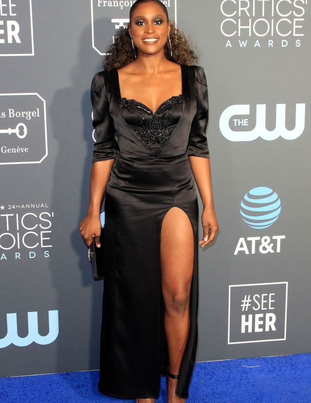 United States actress Issa Rae arrives for the 24th Annual Critics' Choice Awards at Barker Hangar in Santa Monica, California, USA, 13 January 2019. The Critics' Choice Awards honors the finest in cinematic and television achievement.24th Annual Critics' Choice Awards, Santa Monica, USA - 13 Jan 2019