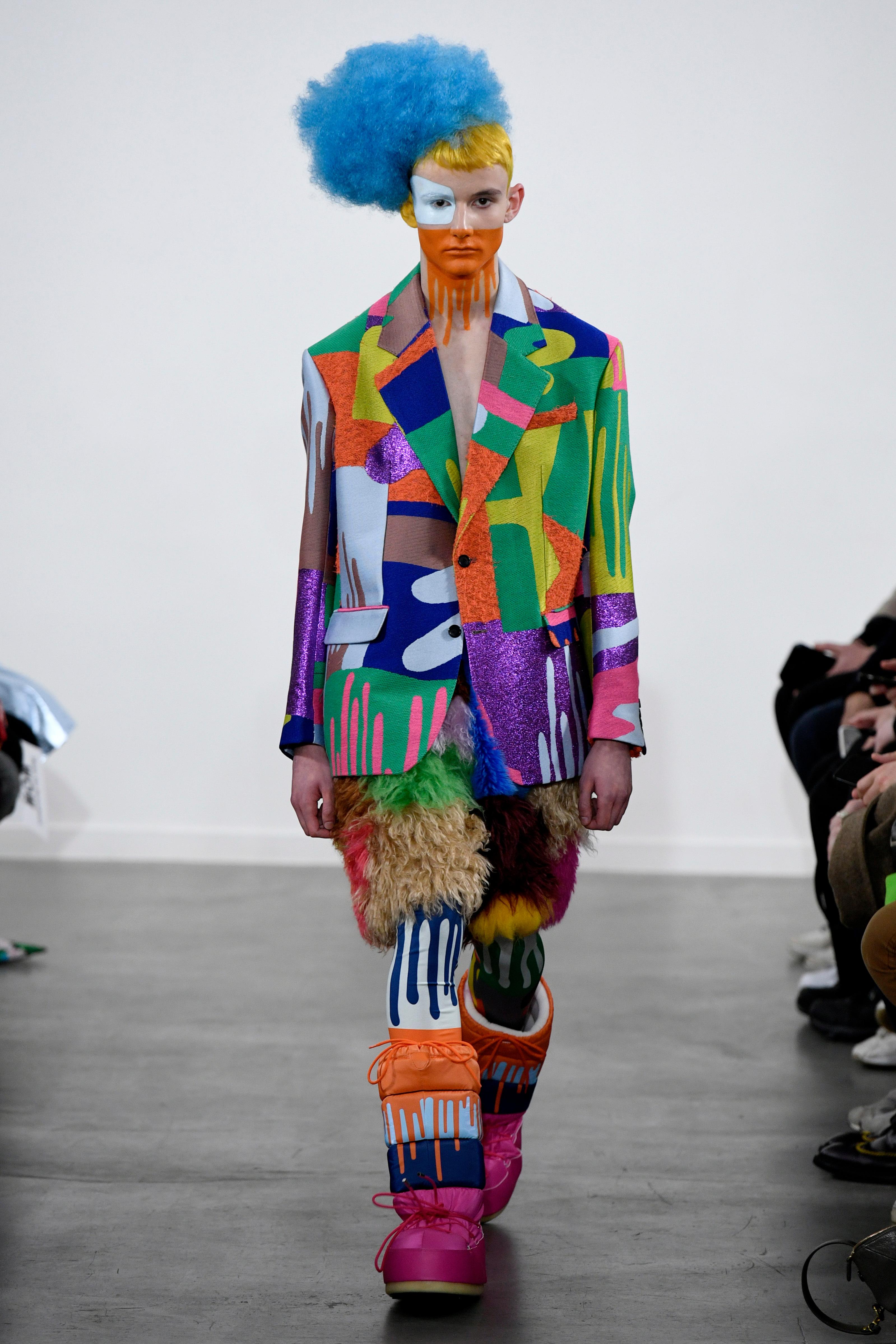 Model on the catwalkWalter Van Beirendonck show, Runway, Fall Winter 2019, Paris Fashion Week Men's, France - 16 Jan 2019