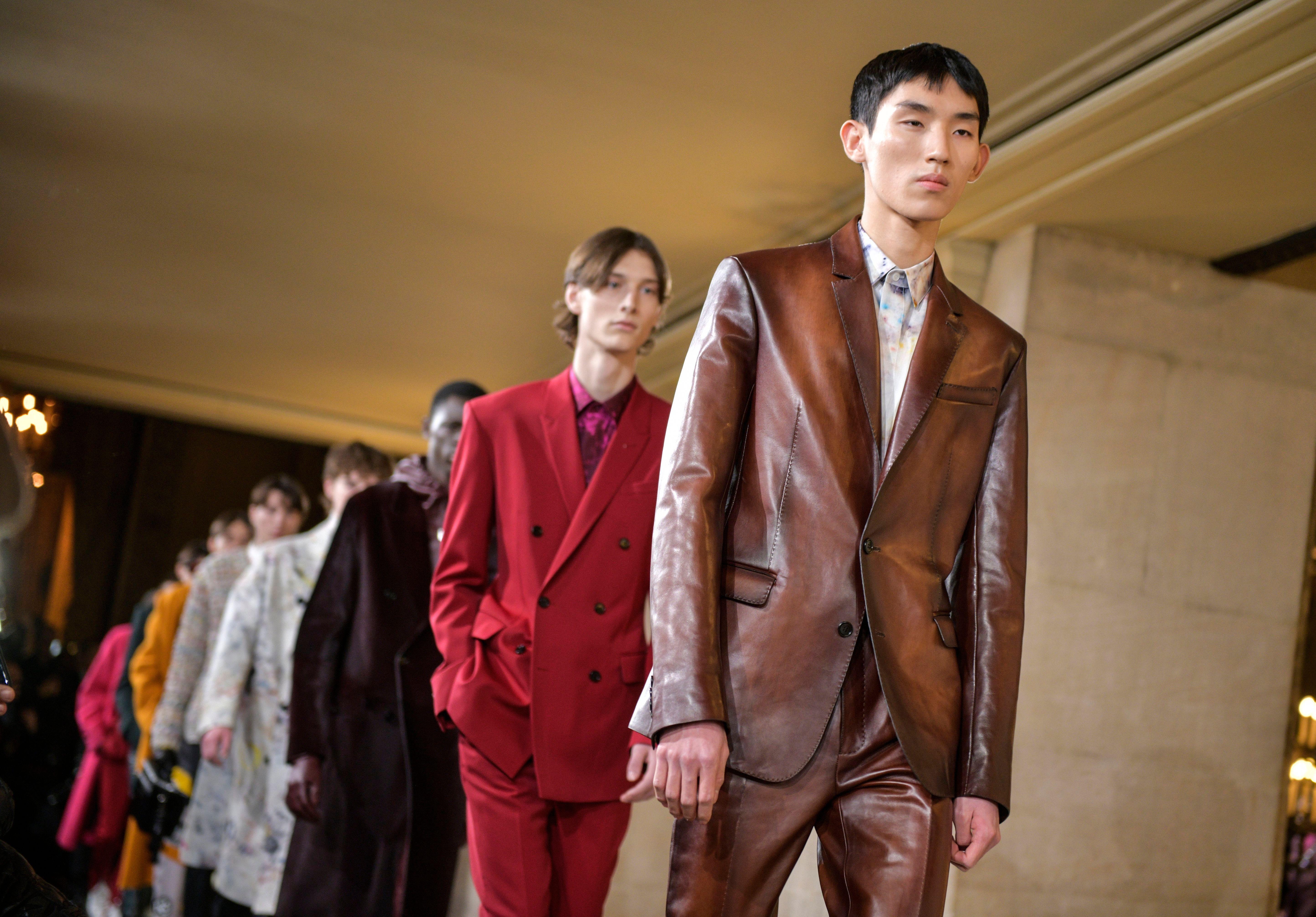 Models on the catwalkBerluti show, Runway, Fall Winter 2019, Paris Fashion Week Men's, France - 18 Jan 2019