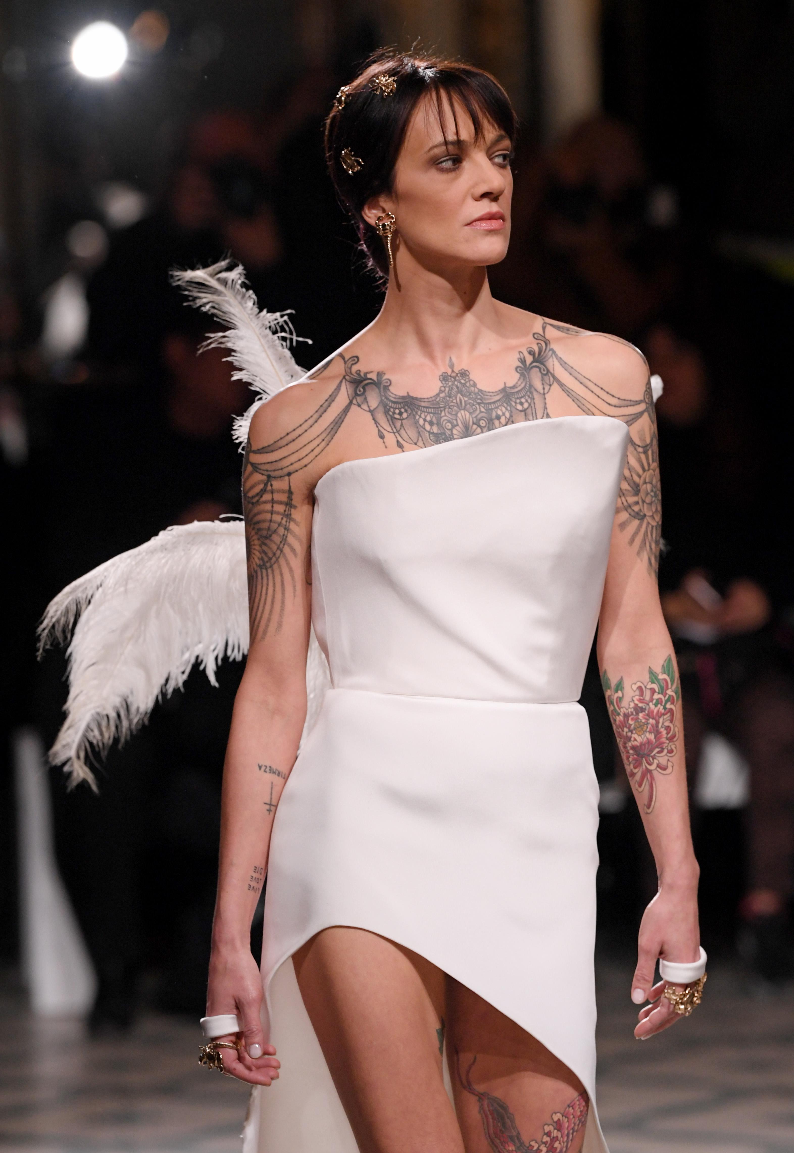 Asia Argento on the catwalkAntonio Grimaldi show, Runway, Spring Summer 2019, Haute Couture Fashion Week, Paris, France - 21 Jan 2019