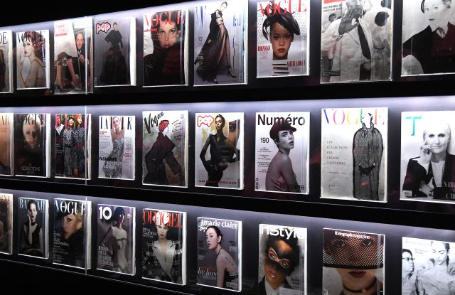 Magazines on displayChristian Dior: Designer of Dreams exhibition, V&A museum, London, UK - 30 Jan 2019