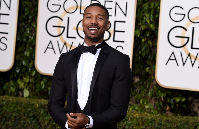 Michael B. Jordan arrives at the 73rd annual Golden Globe Awards, at the Beverly Hilton Hotel in Beverly Hills, Calif73rd Annual Golden Globe Awards - Arrivals, Beverly Hills, USA