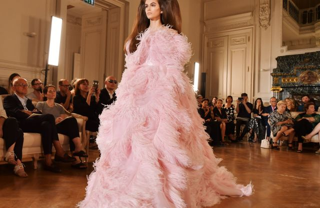 Kaia Gerber on the catwalkValentino show, Runway, Fall Winter 2018, Haute Couture Fashion Week, Paris, France - 04 Jul 2018SAME OUTFIT AS LADY GAGA