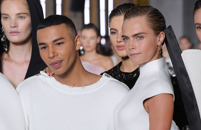 Cara Delevingne, Olivier Rousteing and models on the catwalkBalmain show, Runway, Spring Summer 2019, Paris Fashion Week, France - 28 Sep 2018